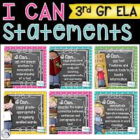 I Can Statements 3rd Grade ELA TpT Resource