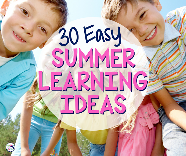 Kids looking at camera 30 easy summer learning ideas