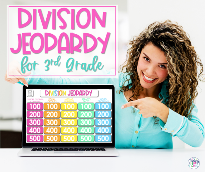 Division Jeopardy Game for 3rd grade is a fun way to review key division concepts and save you planning time!