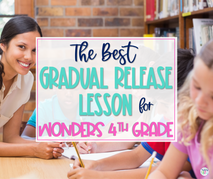 The Best Gradual Release Lesson for Wonders 4th Grade Blog Graphic